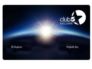 Card de fidelitate Club5* Exclusive Top Shop