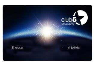Card de fidelitate Club5* Exclusive Top Shop