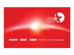 Card de fidelitate Club 5* Premium Top Shop